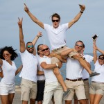 Yacht Crew celebrating the success of the YACHTNEEDS app