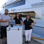 Frigibar Industries Inc Deck fridge gift presented to superyacht