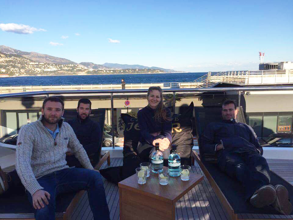 Britesyde Distribution crew prize winners for YACHTNEEDS yacht giveaway