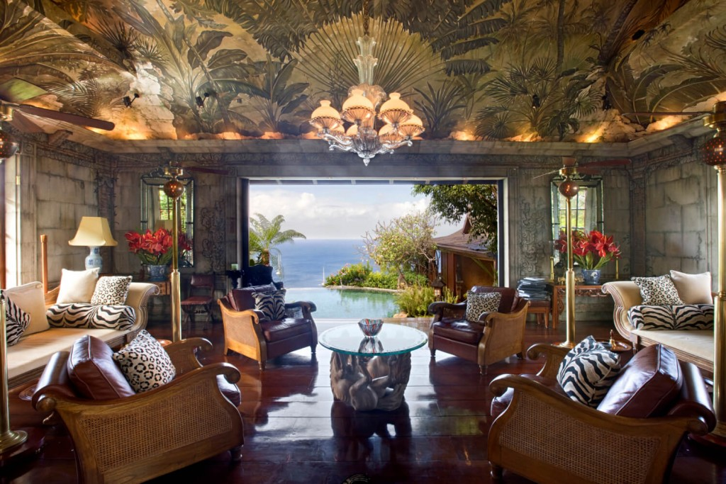 drawing room Mandalay estate Mustique