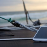 Mobile phone-on a yacht with YACHTNEEDS APP