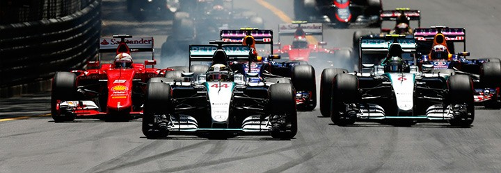 Monaco Grand Prix 2017 image of the F1 cars
