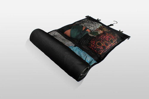 clothes organizer, roll up suitcase, Rolo, hanging clothes