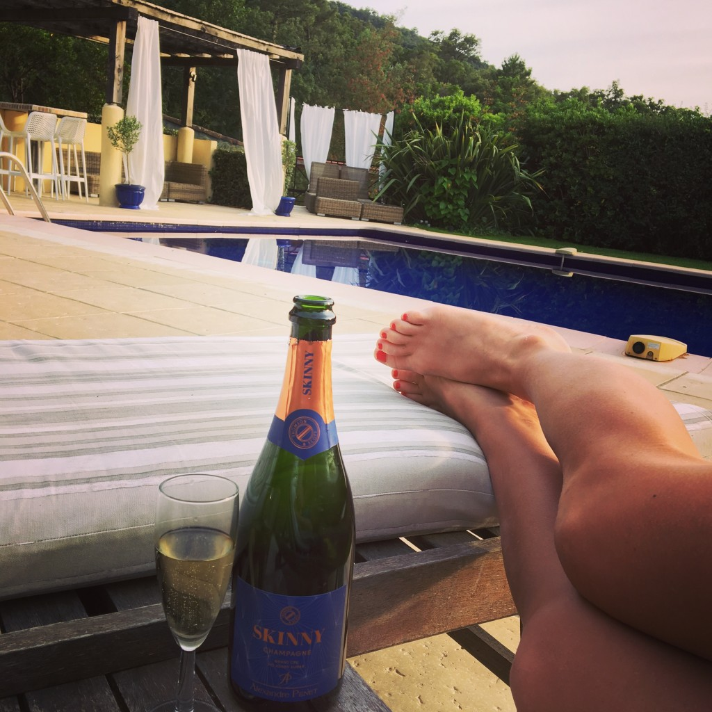 Health and fitness retreat with skinny champagne