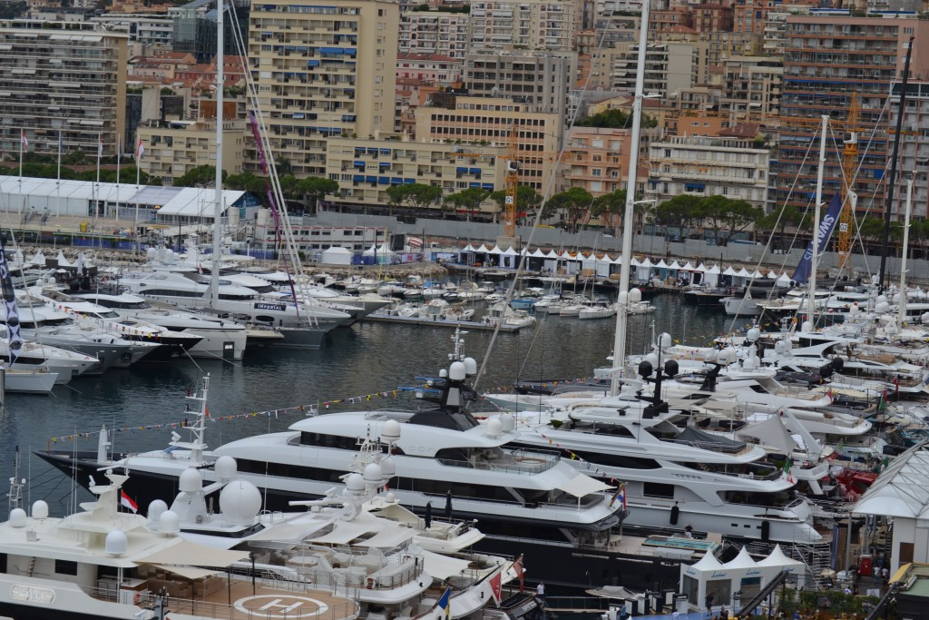Monaco Yacht Show view of yachts