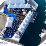 MYS aerial view YACHTNEEDS stand