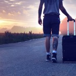 Travelling, suitcase