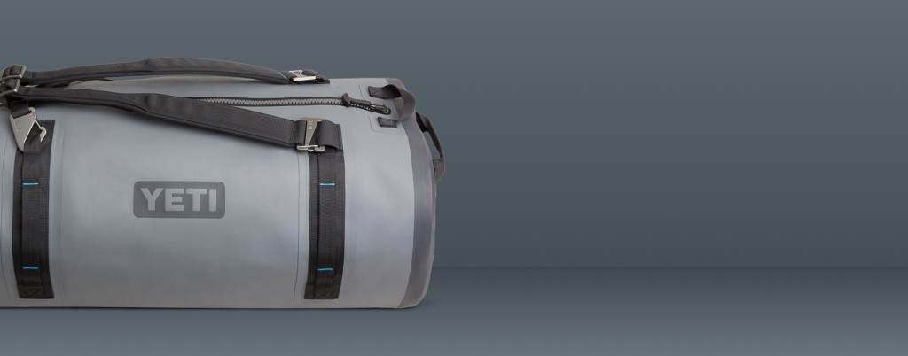 Grey waterproof duffel bag by YETI