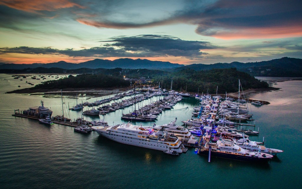Thailand Yacht Show aerial view