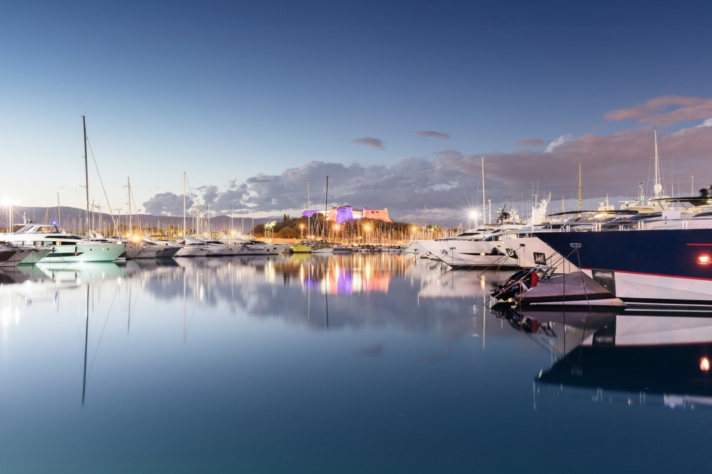 View of yachts at Port Vauban, Antibes