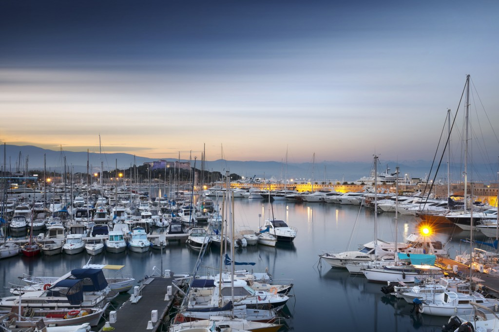 View of marina at Port Vauban, Antibes