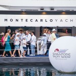 Montecarlo yachts booth at singapore yacht show