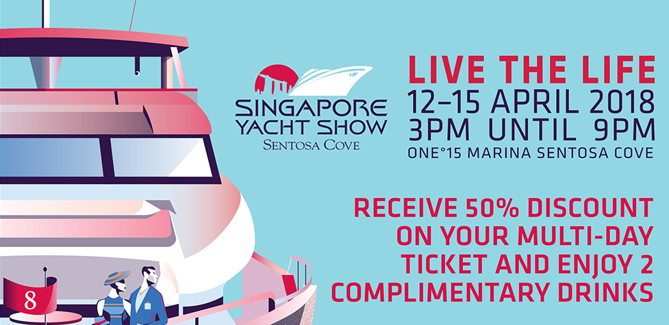 Tickets and drinks at Singapore Yacht Show