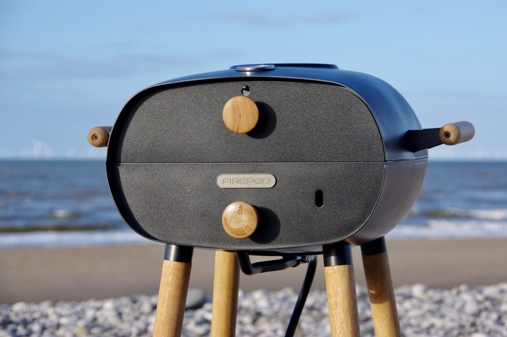 Firepod Pizza Oven on a beach