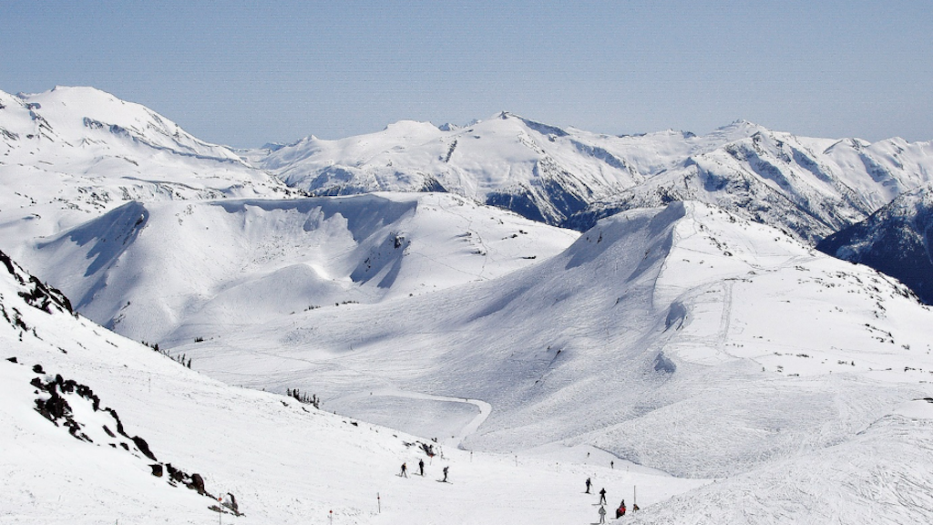 Whistler mountain Ski Run