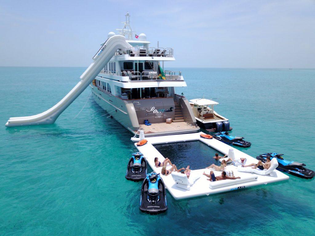 Motor Yacht Loon with FunAir Yacht Slide and Sea Pool