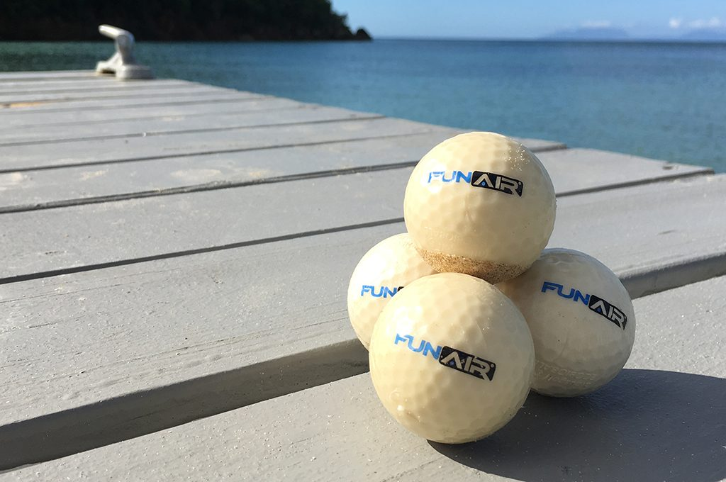 Eco friendly fish food golf balls from Albus Golf