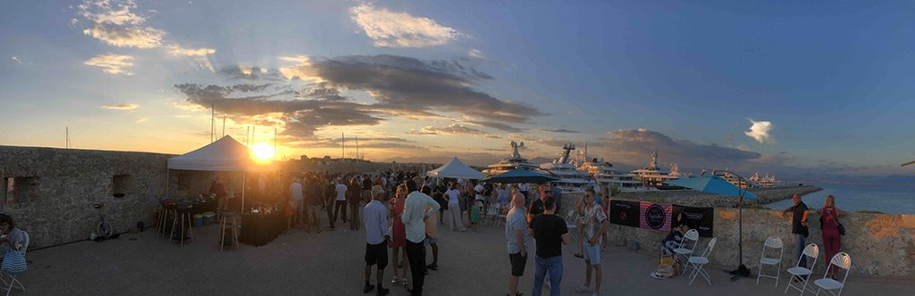sunset view over port vauban at the YACHTNEEDS crew party