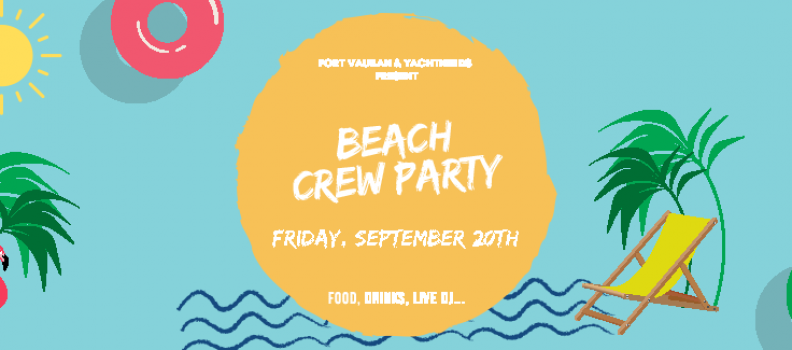 Come to the 2019 beach themed Crew party in Antibes