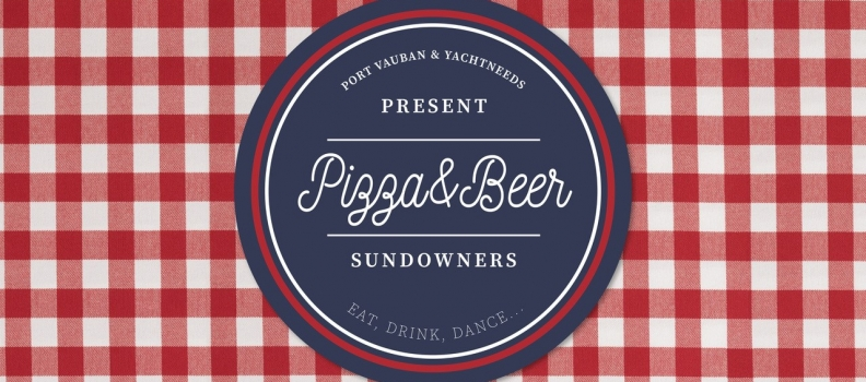 Crew Pizza & Beer Sundowners in Port Vauban this summer