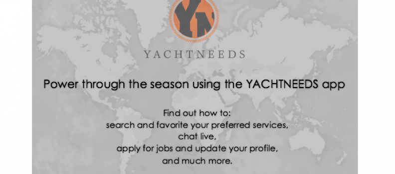 How to use the YACHTNEEDS App – Tutorial